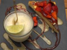 Cheesecake und Limetten-Sorbet - Rezept - Bild Nr. 2