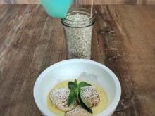 Poffertjes mit Schokoapfel, Zuckerwatte und Vanillesauce - Rezept - Bild Nr. 2