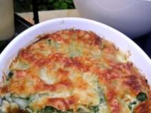 Lachslasagne mit Spinat und Schafskäse - Rezept