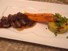 Entenbrustfilet mit Kartoffelpüree und Möhren - Rezept - Bild Nr. 2