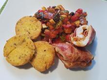 Hähnchen-Involtini mit mediterranem Gemüse und  Polenta-Talern - Rezept - Bild Nr. 16