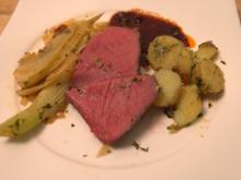 Geräuchertes Entrecôte vom Grill mit Fenchel an getrockneten Tomaten und Schwenkkartoffeln - Rezept - Bild Nr. 2
