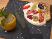 Süßes Bruschetta mit Zitronen-Minz-Eis - Rezept - Bild Nr. 2