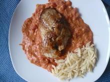 Putenfilet in Tomaten - Frischkäse- Soße - Rezept - Bild Nr. 2
