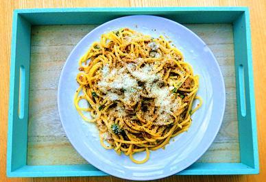 Spaghetti mit Thunfisch-Zitonensauce - Spaghetti tonno e limone - Rezept - Bild Nr. 2