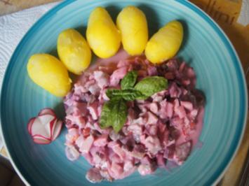 Matjessalat mit Pellkartoffeln - Rezept - Bild Nr. 2