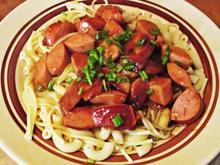 Kleines Wurstgulasch mit Nudeln-Kochbar Challenge 9.0 - Rezept - Bild Nr. 2