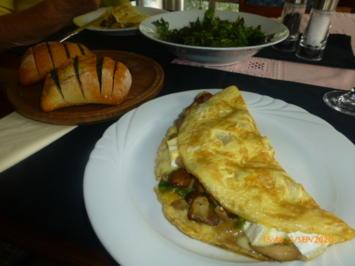 Rezept: Pilz-Omelette mit Camembert