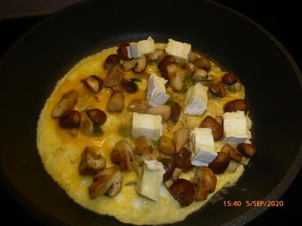 Pilz-Omelette mit Camembert - Rezept - Bild Nr. 6