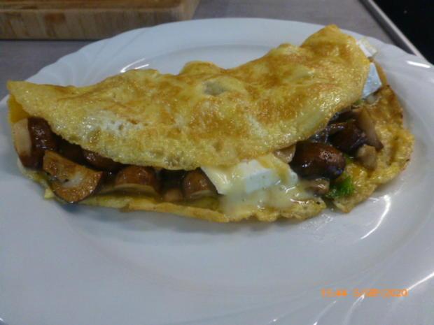Pilz-Omelette mit Camembert - Rezept - Bild Nr. 7