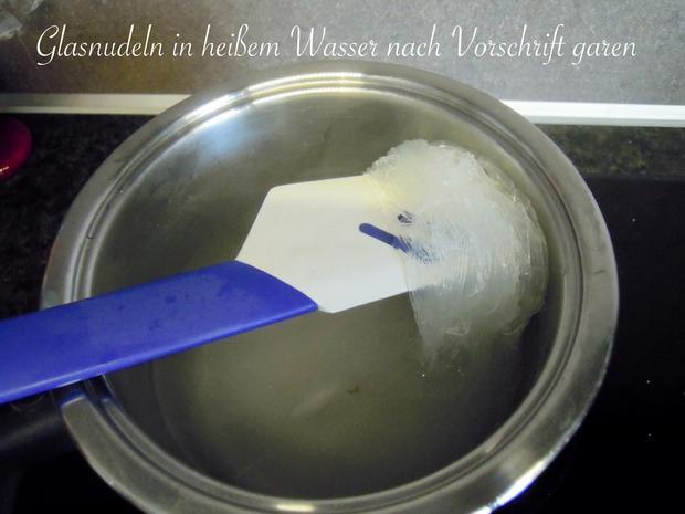 Schonkost - cremige leckere Glasnudeln mit Champions und Erbsen - Rezept - Bild Nr. 11327