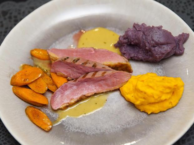 Canard à l'orange mit zweierlei Püree - Rezept - Bild Nr. 2