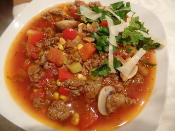 Schnelle Pizza-Suppe - Rezept - Bild Nr. 11333