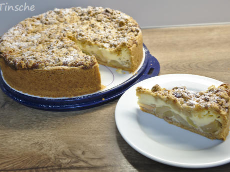 Apfelkuchen mit Marzipanstreusel & Puddingfüllung - Rezept - Bild Nr. 5