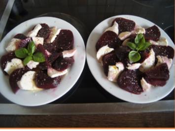 Rote-Bete-Mozzarella-Carpaccio - Rezept - Bild Nr. 2