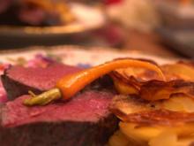 Chateaubriand vom bayrischen Bio-Rind mit Rotweinjus und Kartoffelröschen - Rezept - Bild Nr. 2