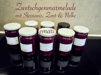 Zwetschgen Marmelade mit Sternanis, Zimt und Nelke - Rezept - Bild Nr. 15