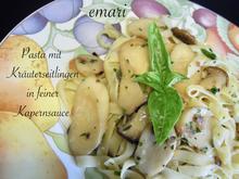 Pasta mit Kräuterseitlingen in feiner Kapernsauce - Rezept - Bild Nr. 2