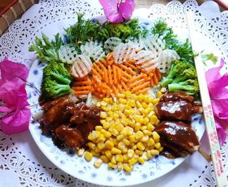 Thailändische Spareribs mit Mais und Gemüse - Rezept - Bild Nr. 2