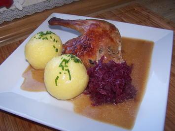 Entenbraten mit Knödel u. Blaukraut - Rezept - Bild Nr. 11378