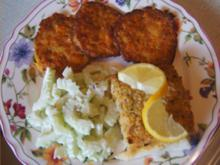 Schlemmerfilet mit Süßkartoffelrösti und Gurkensalat - Rezept - Bild Nr. 2