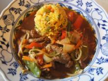 Rindfleisch mit Gemüse und Bratreis - Rezept - Bild Nr. 2