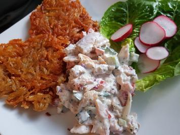 Räucher-Forellen-Filet-Salat mit Rösti - Rezept - Bild Nr. 2