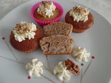 Birnen-Walnuss-Muffins mit Mascarpone -Frischkäsehaube - Rezept - Bild Nr. 11434