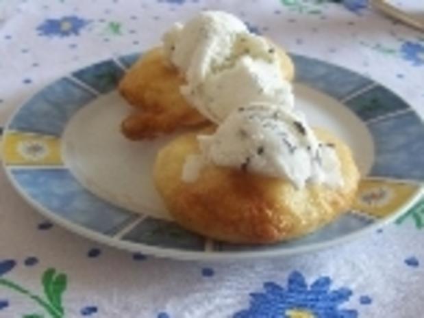 Frittierte Ananas mit Eis - Rezept