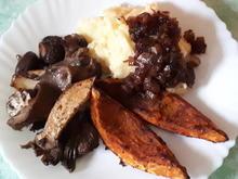 Pilzpfanne und Kürbis aus dem Ofen mit Beilagen - Rezept - Bild Nr. 7