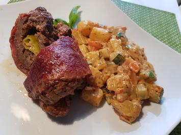 Rinderhack-Rouladen mit Zucchini-Kartoffel-Ragout - Rezept - Bild Nr. 2