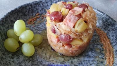 Sauerkraut Kassler Kartoffel Trauben = Rezeptbau NR 22 - Rezept - Bild Nr. 2