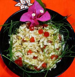Scharfer Rettich-Gurkensalat mit roter Paprika - Rezept - Bild Nr. 2