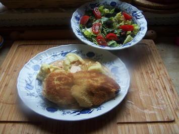 Kalbsfilet Stücke ,Steinpilz Rahm Soße mit bunten Salat - Rezept - Bild Nr. 11544