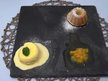 Mallorquinischer Mandelkuchen mit Orangenparfait - Rezept - Bild Nr. 2