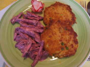 Thunfisch-Erbsen-Kartoffel-Buletten und Rote-Bete-Salat - Rezept - Bild Nr. 3