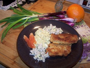 Kartoffelsalat mit Putenschnitzel - Rezept - Bild Nr. 2