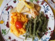 Zanderfilet mit Buschbohnen und Möhren-Kartoffel-Stampf - Rezept - Bild Nr. 2