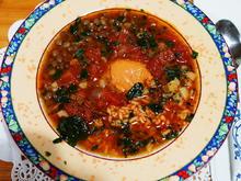 Belugalinsensuppe mit Reis und Tomaten - Minestra di lenticcie - Rezept - Bild Nr. 2