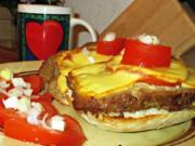 Brötchen würzig mit Hackbraten und Käse überbacken -Resteverwertung - Rezept - Bild Nr. 2