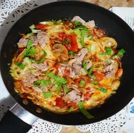 Thunfischpfanne mit Gemüse und Pilzen - Rezept - Bild Nr. 2