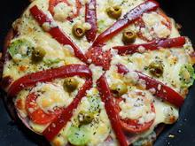 Italienische Pfannenpizza Piemont - Rezept - Bild Nr. 2