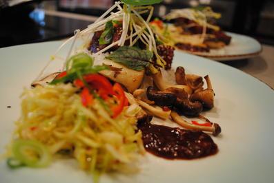 red pork belly / Duftreis / Asia-Pilze - Rezept - Bild Nr. 11670