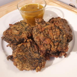 Indisch: Palak-Pakora .. frittierte Spinat-Happen - Rezept - Bild Nr. 2
