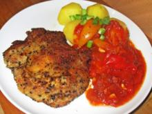 Sesam-Kotelett mit Letscho - Rezept - Bild Nr. 2