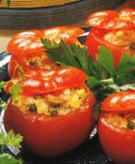 Tomaten mit Thunfisch Füllung - Rezept