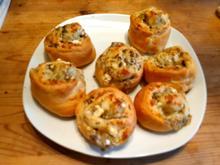Pizzaschnecken mit Feta und Oliven - Rezept - Bild Nr. 2
