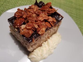 Mandel-Pudding-Kuchen mit Krokant-Haube - Rezept - Bild Nr. 2