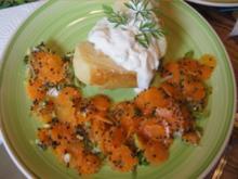 Baked Potato mit asiatischen Möhrenblütensalat - Rezept - Bild Nr. 2