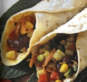 Burritos mit scharfem Gemüse - Rezept